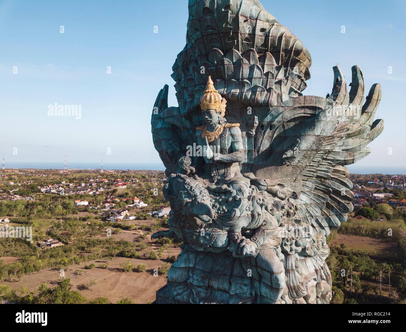 Indonesia, Bali, Aerial view of GWK park, Vishnu statue and Garuda Stock Photo
