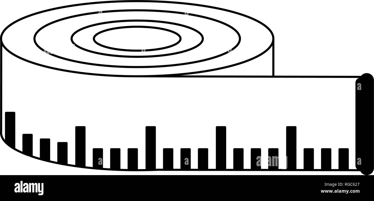 tape measure black and white clipart - Clip Art Library