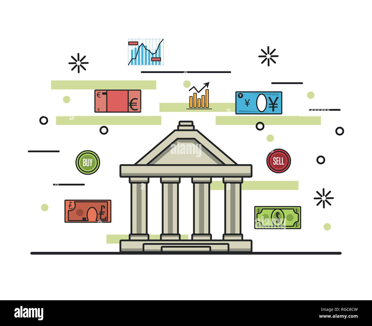 Business money and investments - Stock Image