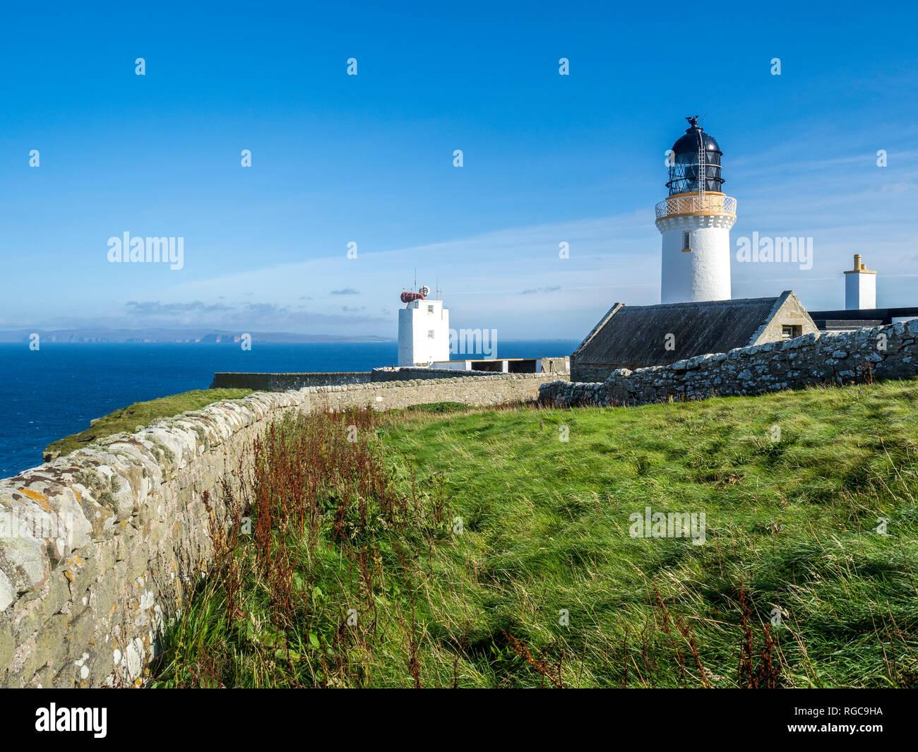 UK, Scotland, Highland, Southland, Dunnet Head lighthouse - Stock Image