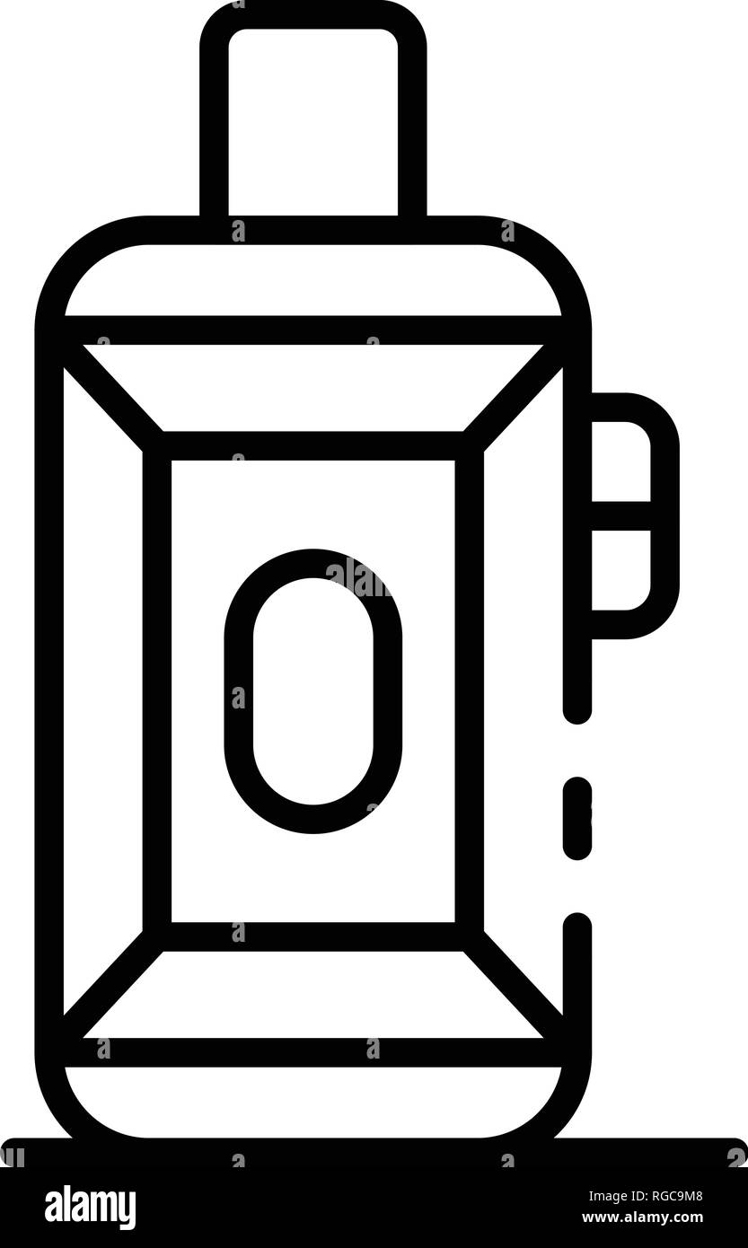 Vaping box icon, outline style - Stock Image