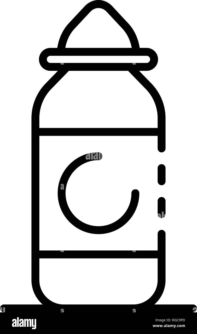 Electric cigarette liquid icon, outline style - Stock Image