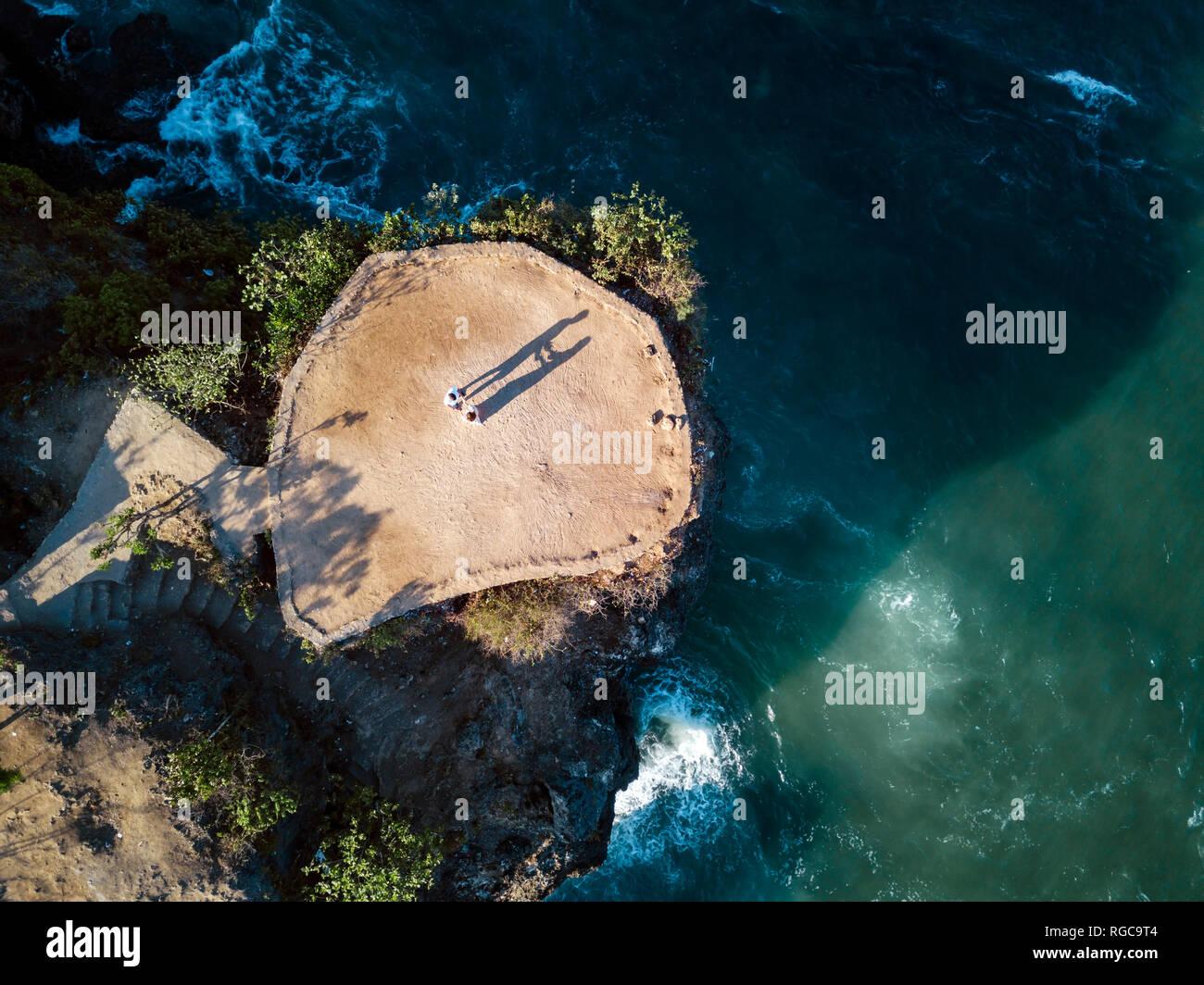 Indonesia, Bali, Aerial view of viewpoint at Balangan beach - Stock Image
