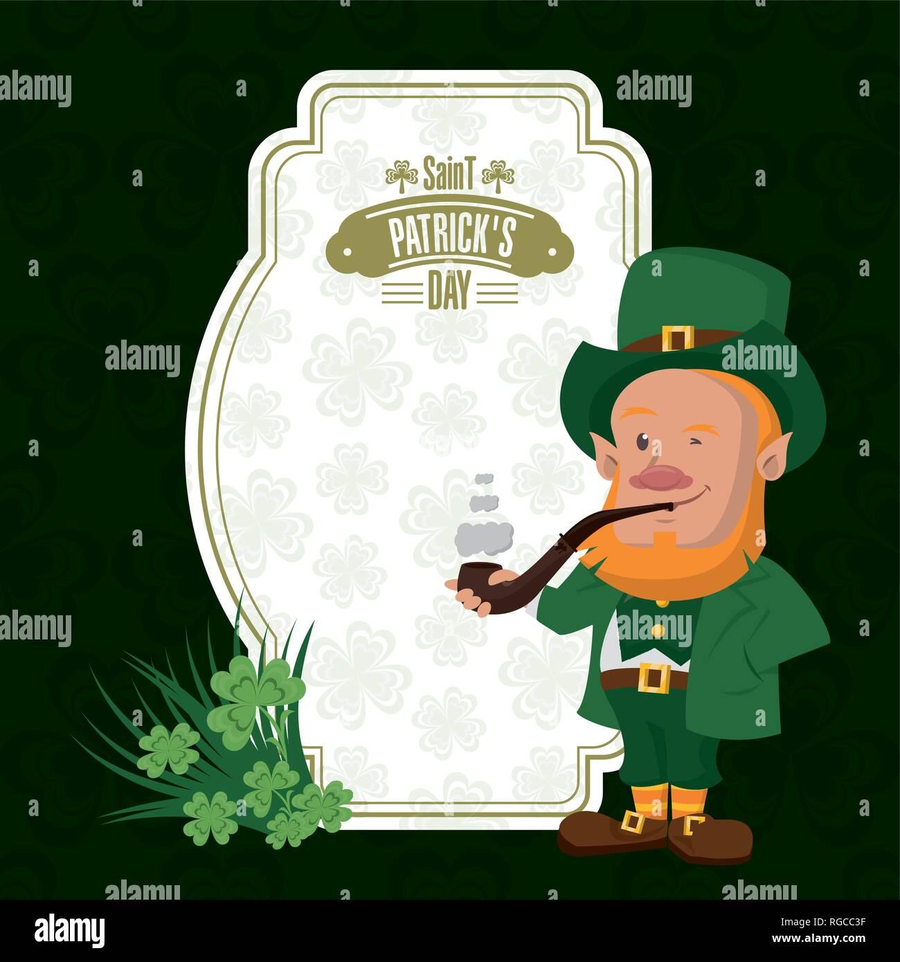 Saint patricks day card - Stock Vector