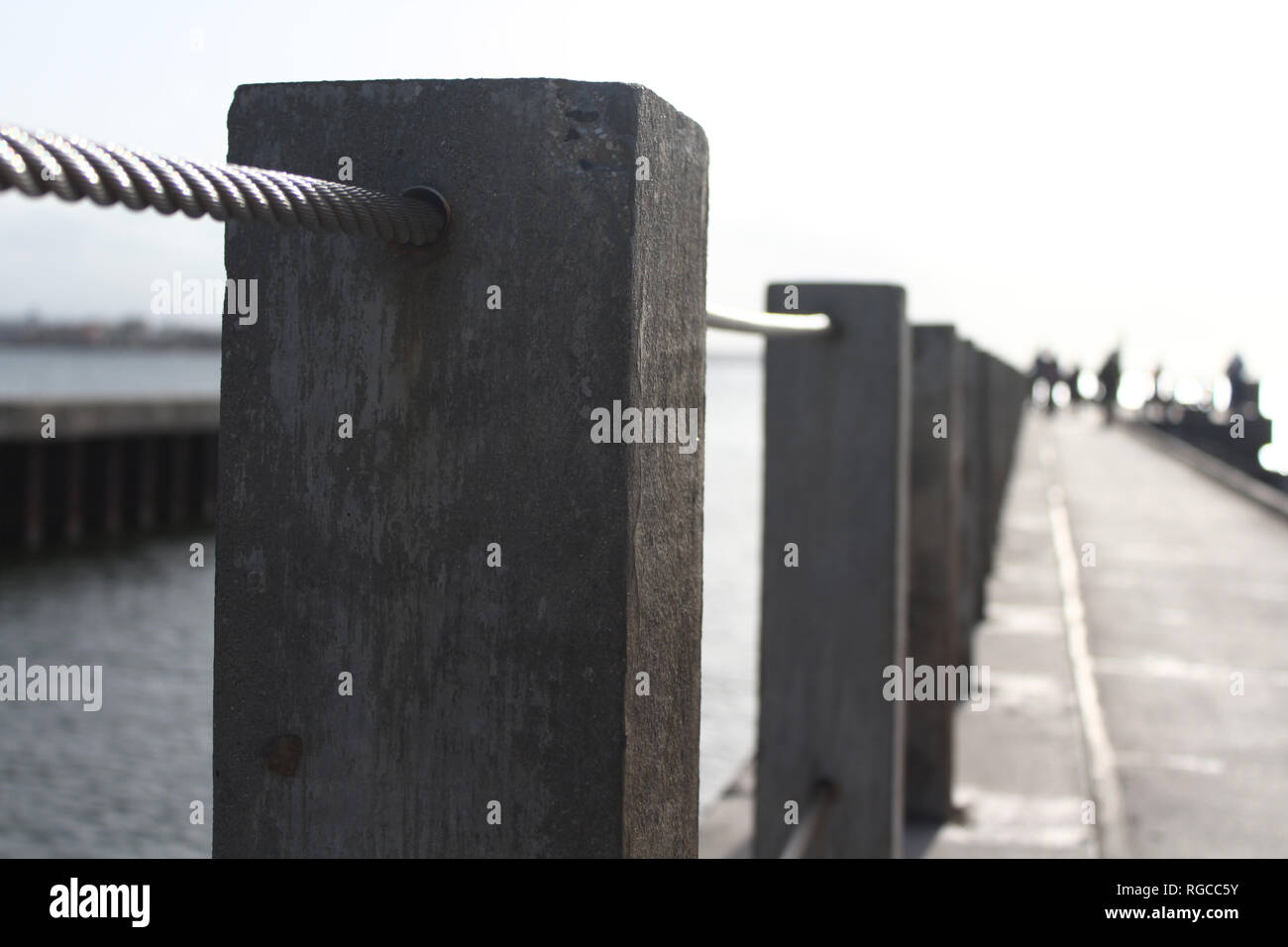 Hand  rails at the beach - Stock Image