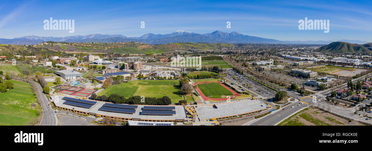 Aerial view of the Cal Poly Pomona campus, California Stock Photo
