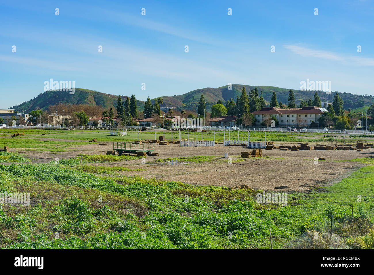 Exterior view of a farm of Cal Poly Pomona at Los Angeles County, California - Stock Image