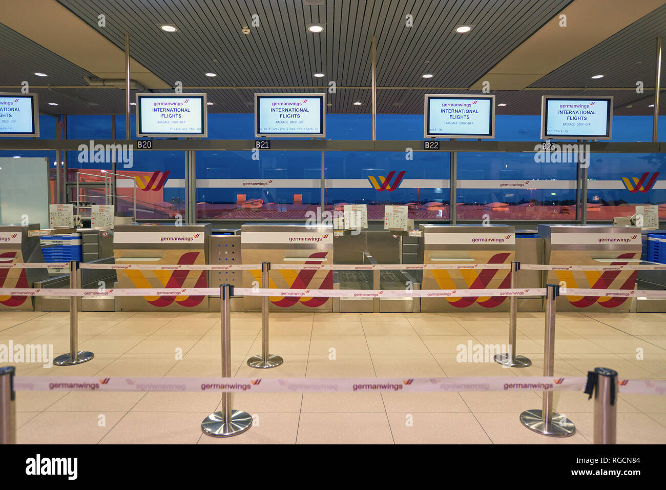 Germanwings Check In Counter Stock Photos Germanwings Check In