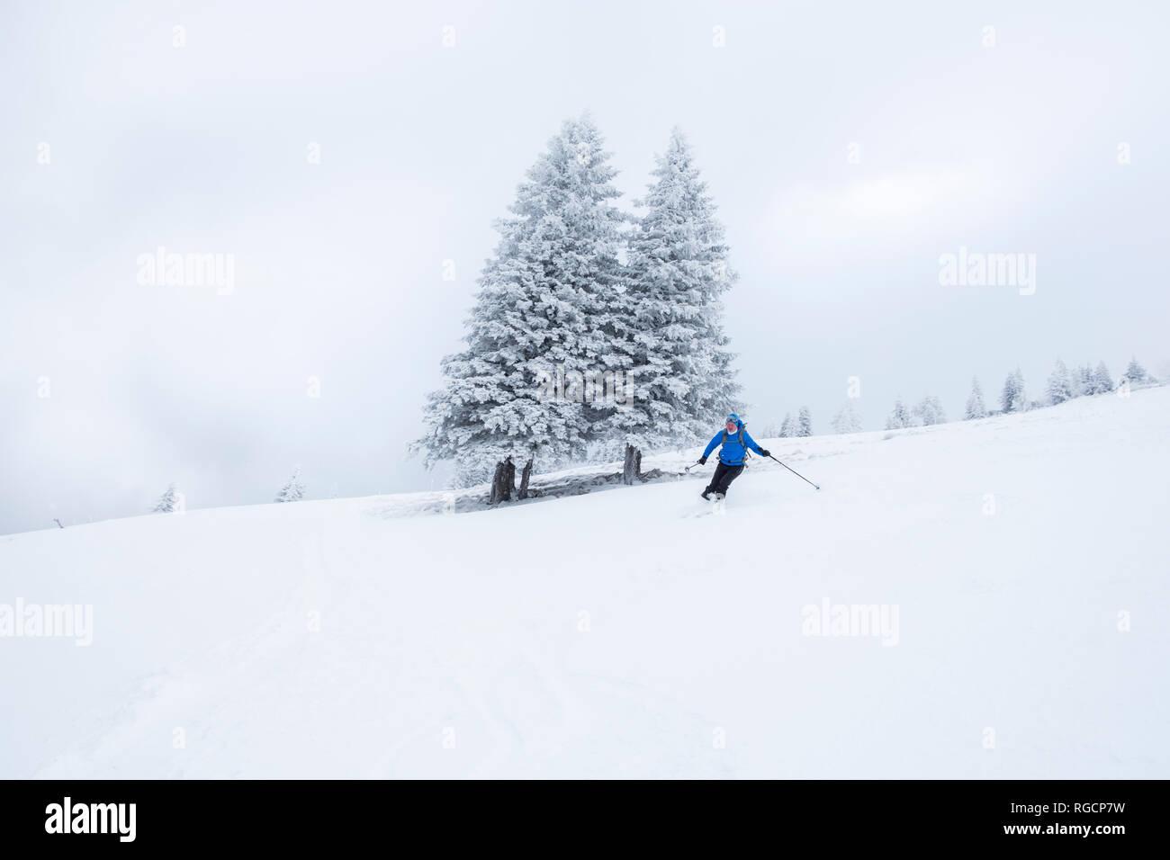 Austria, Salzburg State, Osterhorn Group, skier - Stock Image