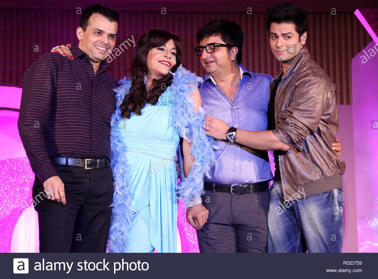L to R) Prashant Bhatt, Weekday programing head, COLORS, TV actors