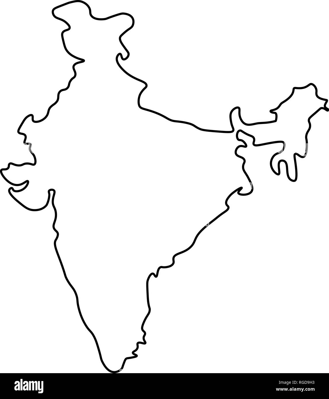 india map outline vector Map Of India Outline Silhouette Of India Map Vector india map outline vector
