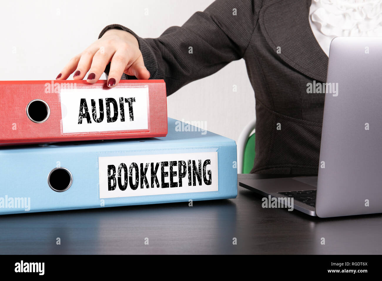Audit and Bookkeeping concept - Stock Image