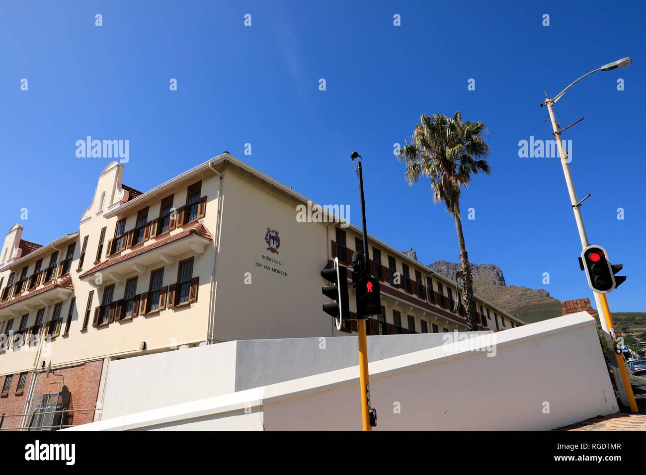 Hoërskool Jan van Riebeeck is an Afrikaans high school (public secondary school) in Kloof Street Cape Town, South Africa. It was founded in 1926.is - Stock Image