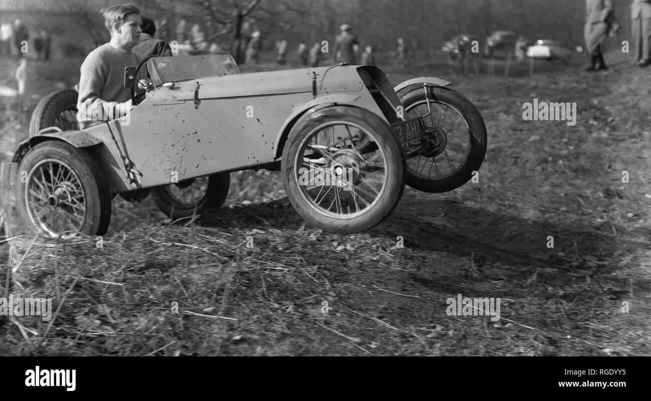 Motor cross scramble old - Stock Image