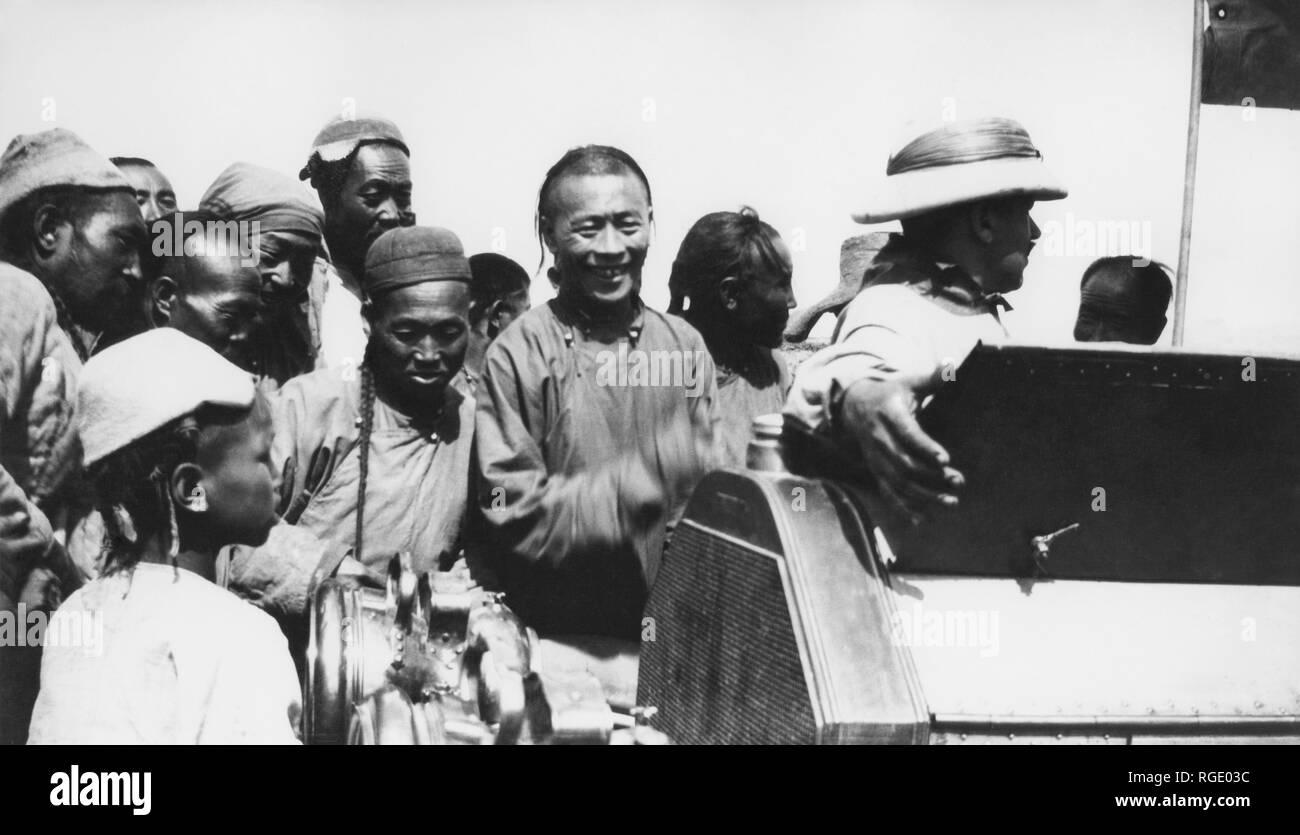 Mongolia, Beijing-Paris Raid, 1907 - Stock Image