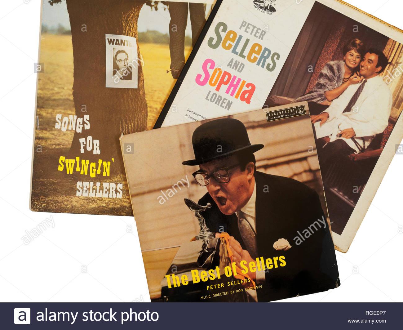 Peter Sellers British humour Sofia Loren LP sixties humour - Stock Image