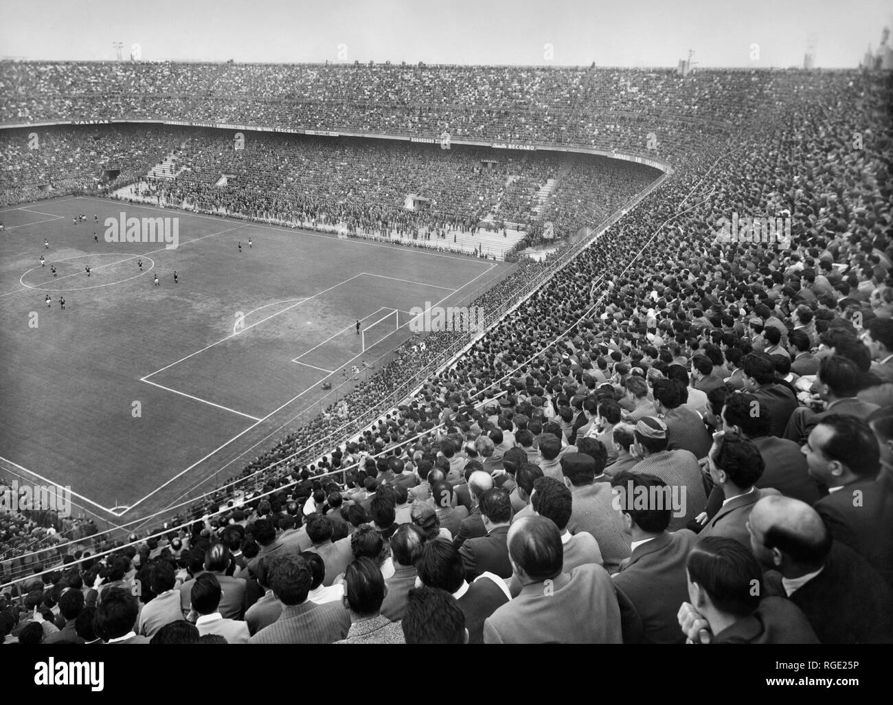 Italy, Lombardy, Milan, view of the stadium during the derby milan-inter, 1959 Stock Photo
