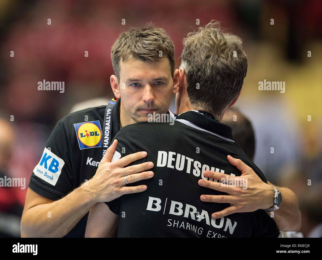 coach Christian PROKOP (GER) disappointed after the match, match for 3rd place, Germany (GER) - France (FRA), on 27.01.2019 in Herning/Denmark Handball World Cup 2019, from 10.01. - 27.01.2019 in Germany/Denmark. | usage worldwide Stock Photo