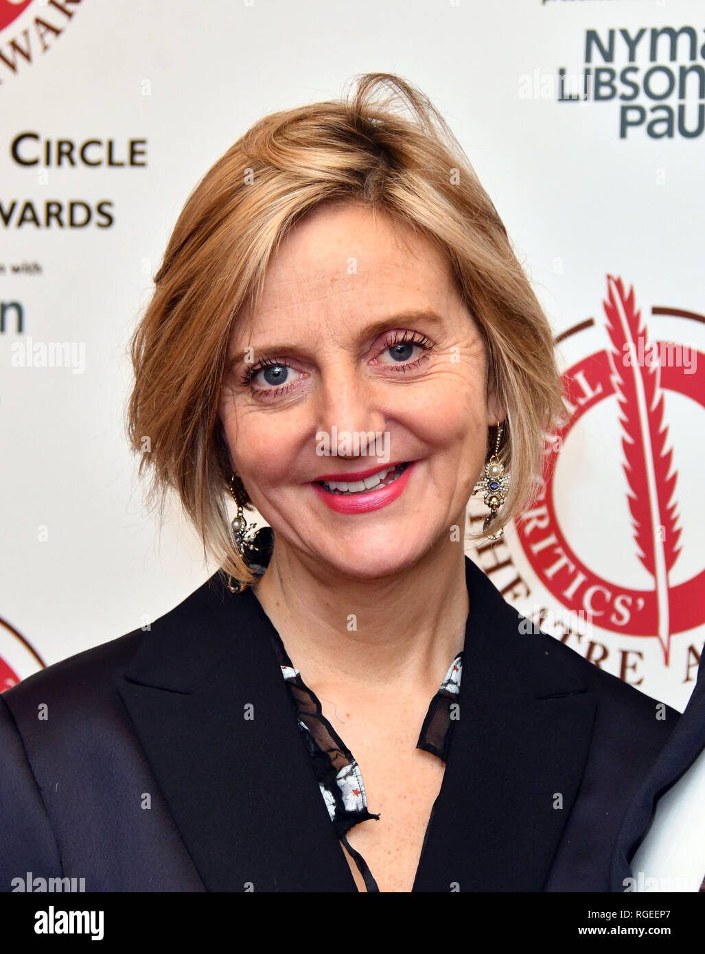 London, UK. 29th Jan 2019. Marianne Elliott at The Critics' Circle Theatre Awards annual ceremony which celebrates the achievements of 2018's theatre productions, at Prince of Wales Theatre Credit: Nils Jorgensen/Alamy Live News - Stock Image