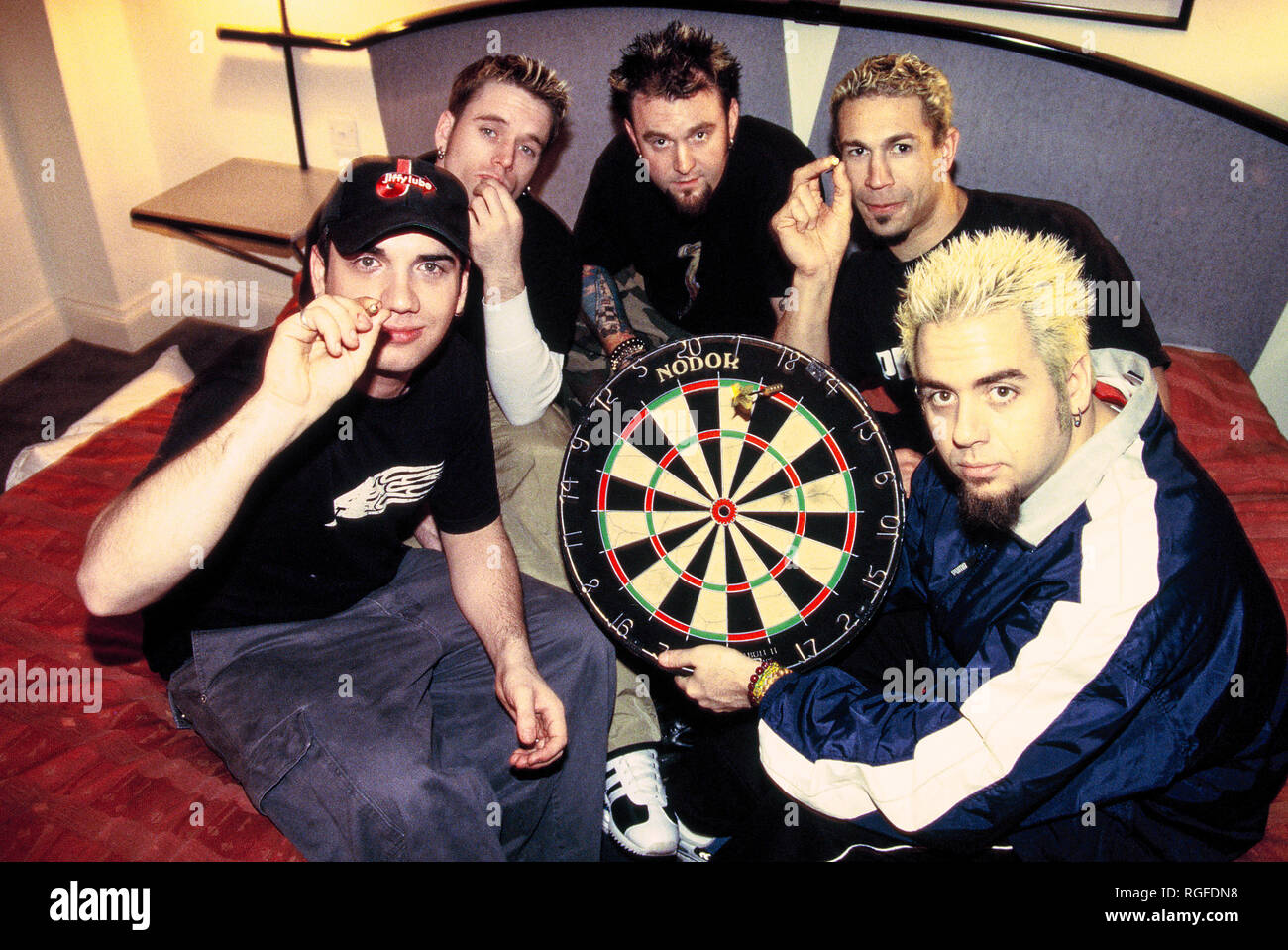 The Bloodhound gang band photographed at La Reserve Hotel in Fulham London, England. Stock Photo