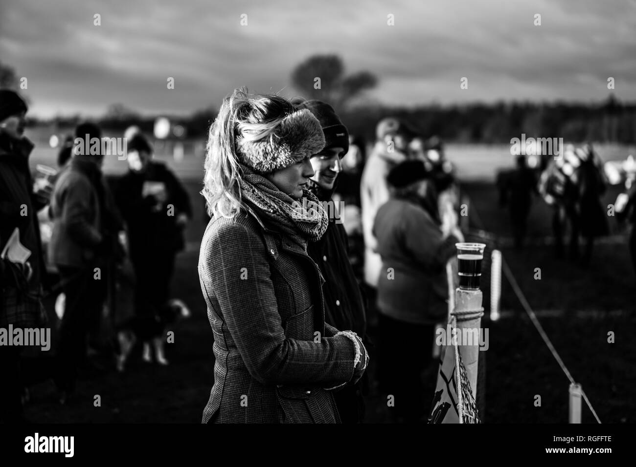 Friars Haugh, Kelso, Scottish Borders, UK. 27th January 2019. The Jedforest point to point race meeting is the first of the season in Scotland. To com - Stock Image