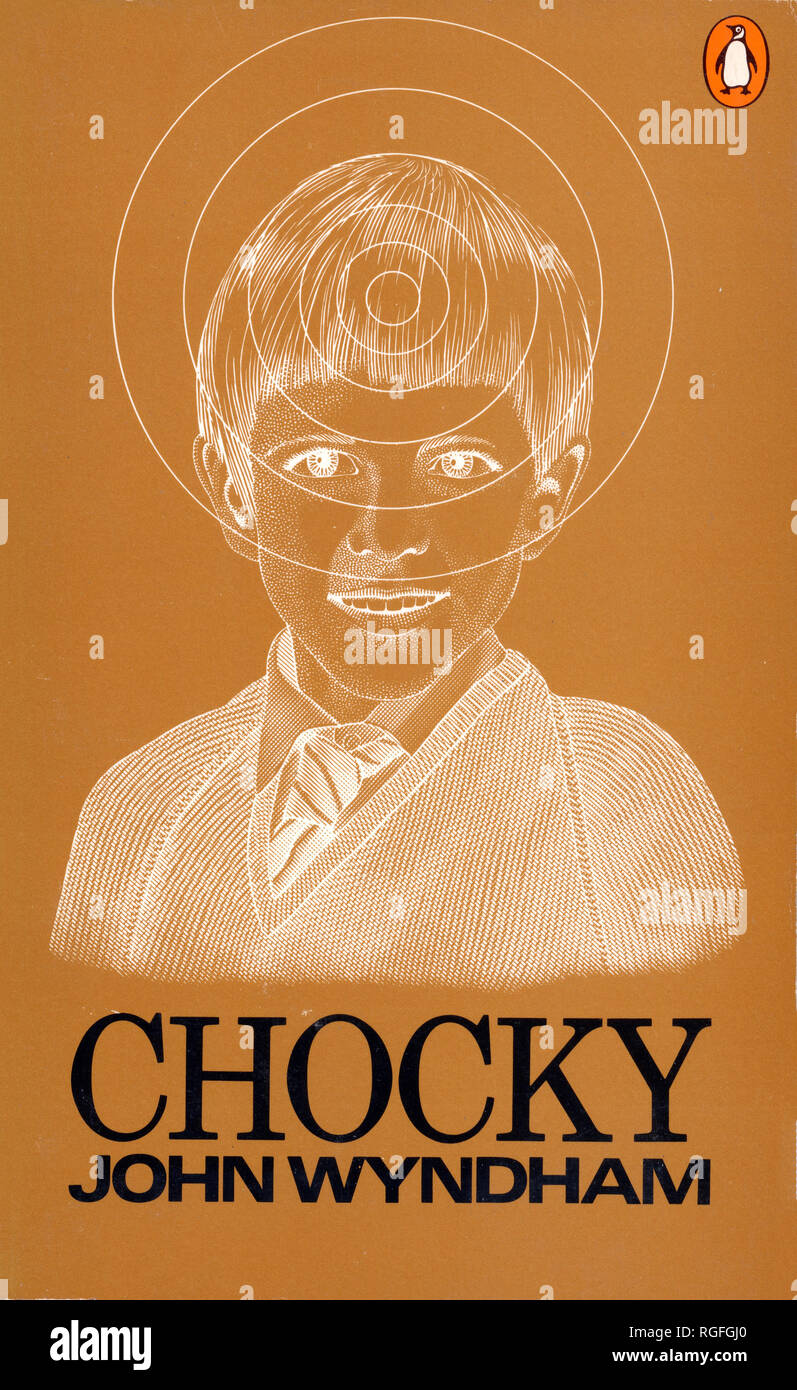 CHOCKY - A Science Fiction Novel by John Wyndham. Cover of 1972 Penguin edition. - Stock Image
