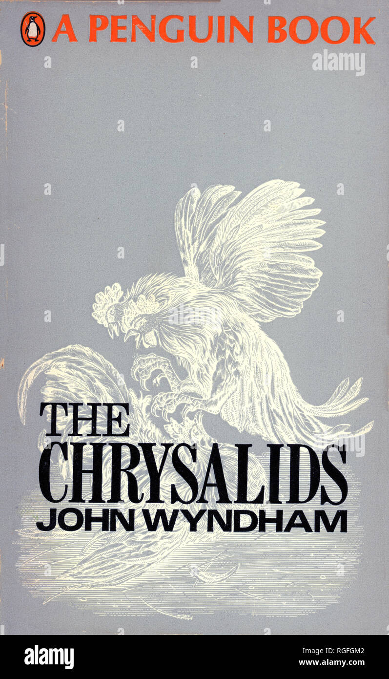 THE CHRYSALIDS - A Science Fiction Novel by John Wyndham. Cover of 1968 Penguin edition. - Stock Image