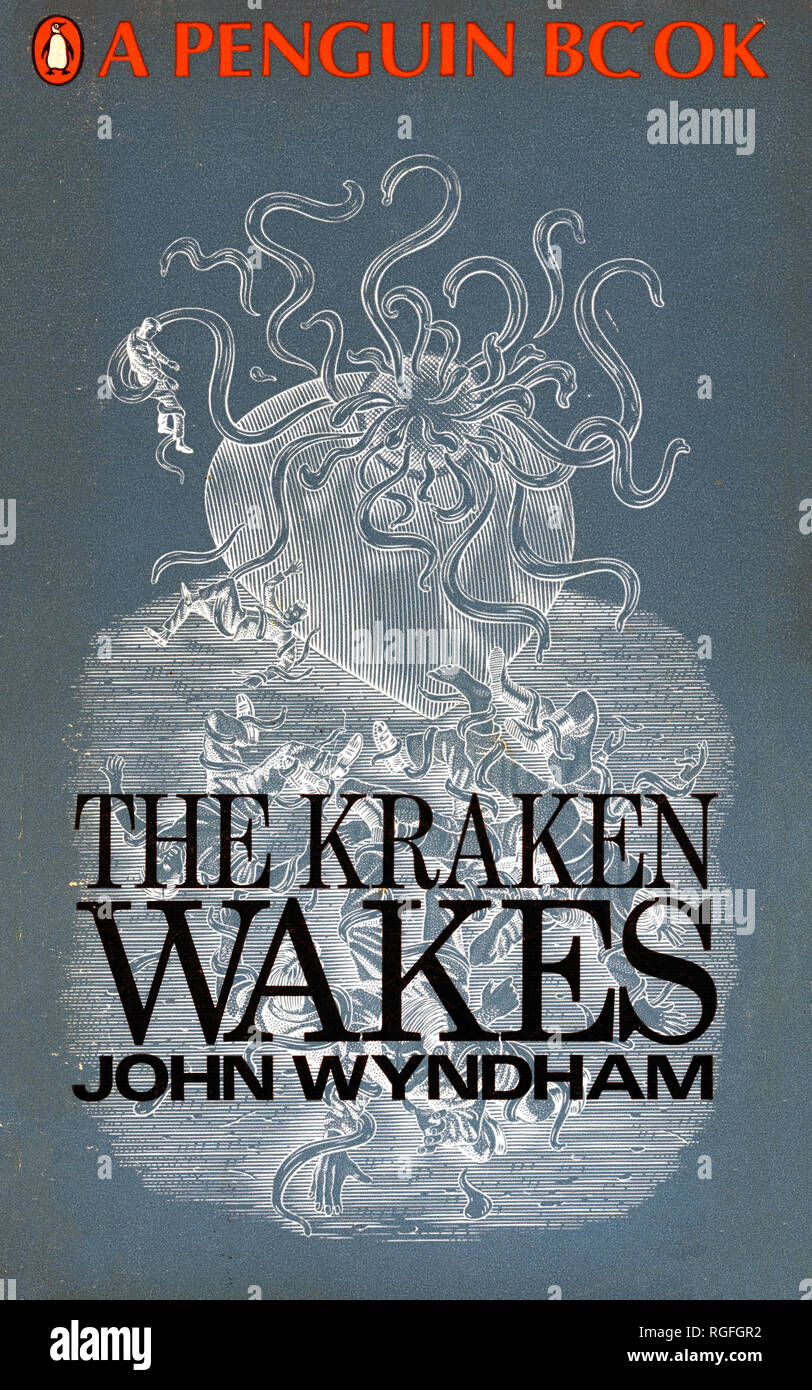 THE KRAKEN WAKES - A Science Fiction Novel by John Wyndham. Cover of 1968 Penguin edition. - Stock Image