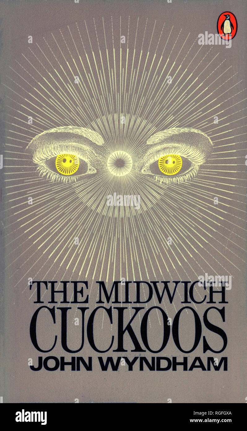 THE MIDWICH CUCKOOS - A Science Fiction Novel by John Wyndham. Cover of 1973 Penguin edition. Stock Photo