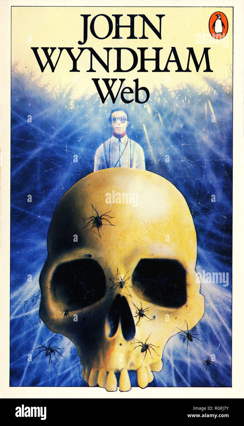 WEB - A Science Fiction Novel by John Wyndham. Cover of 1982 Penguin edition. - Stock Image