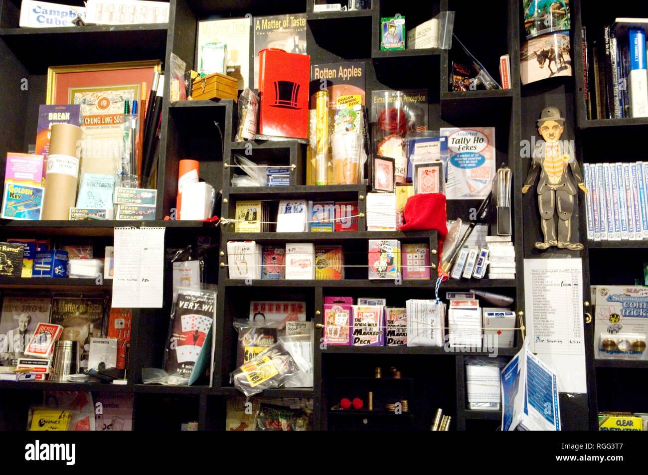 Tricks for sale in International Magic, Clerkenwell Road, London. - Stock Image
