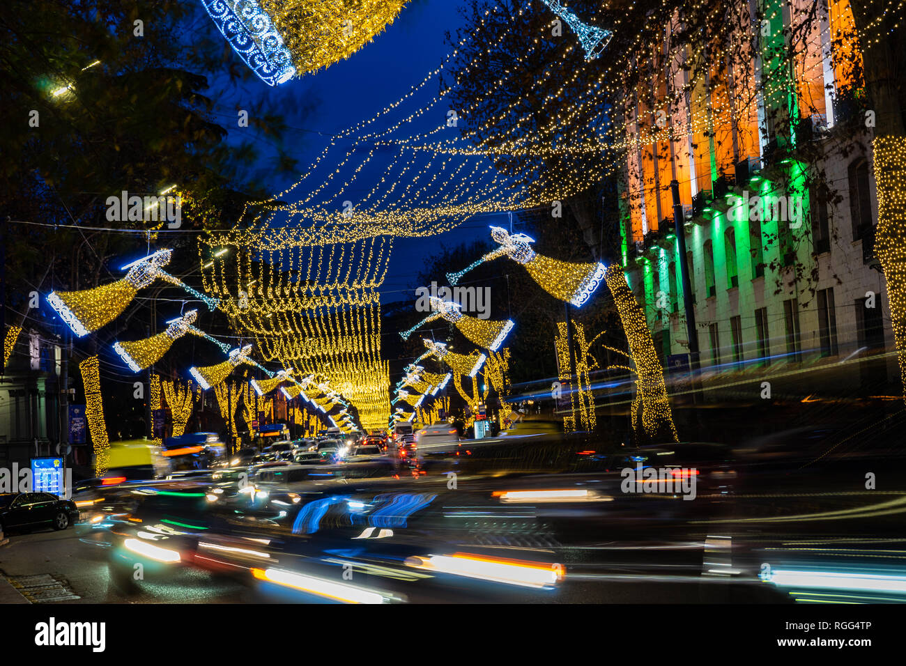 Christmas In Georgia Tbilisi.Georgia Tbilisi Christmas And New 2019 Year Illumination