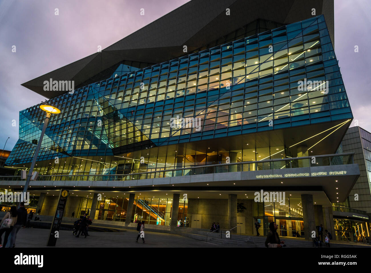International Convention Centre,  (ICC Sydney), a convention, exhibition and entertainment precinct, Darling Harbour, Sydney, NSW, Australia - Stock Image