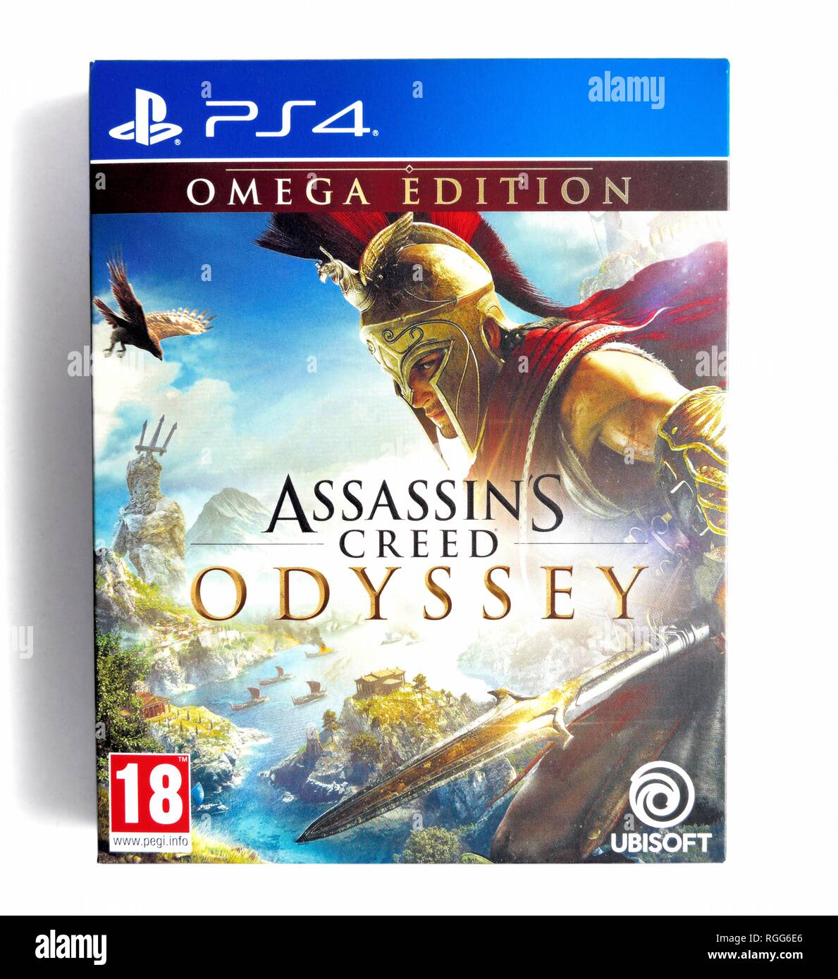 PS4 video game Assassins creed Odyssey - Stock Image
