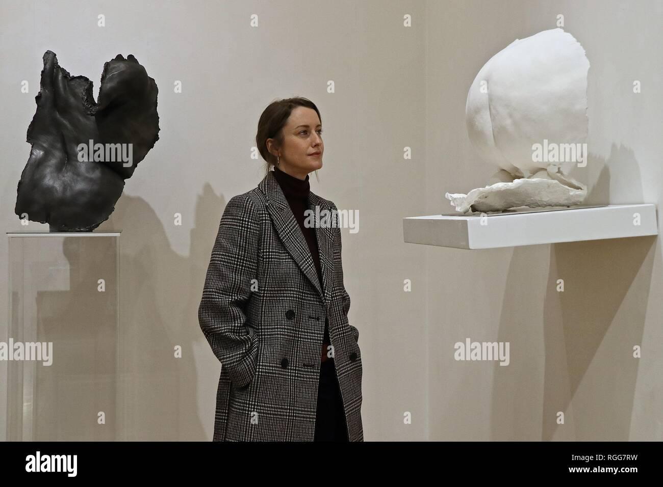 NICOLE FARHI , FEMALE FORM AT BEAUX ARTS , LONDON 31 January - 2 March 2019 Stock Photo