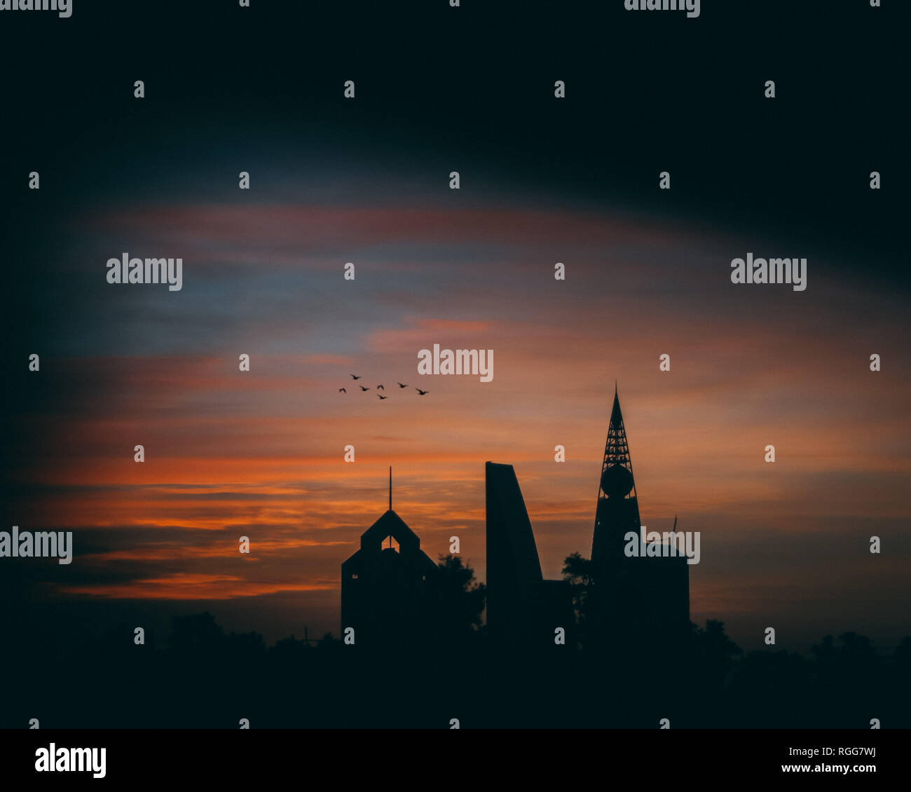 Towers of Saudi - Sunrise - Stock Image