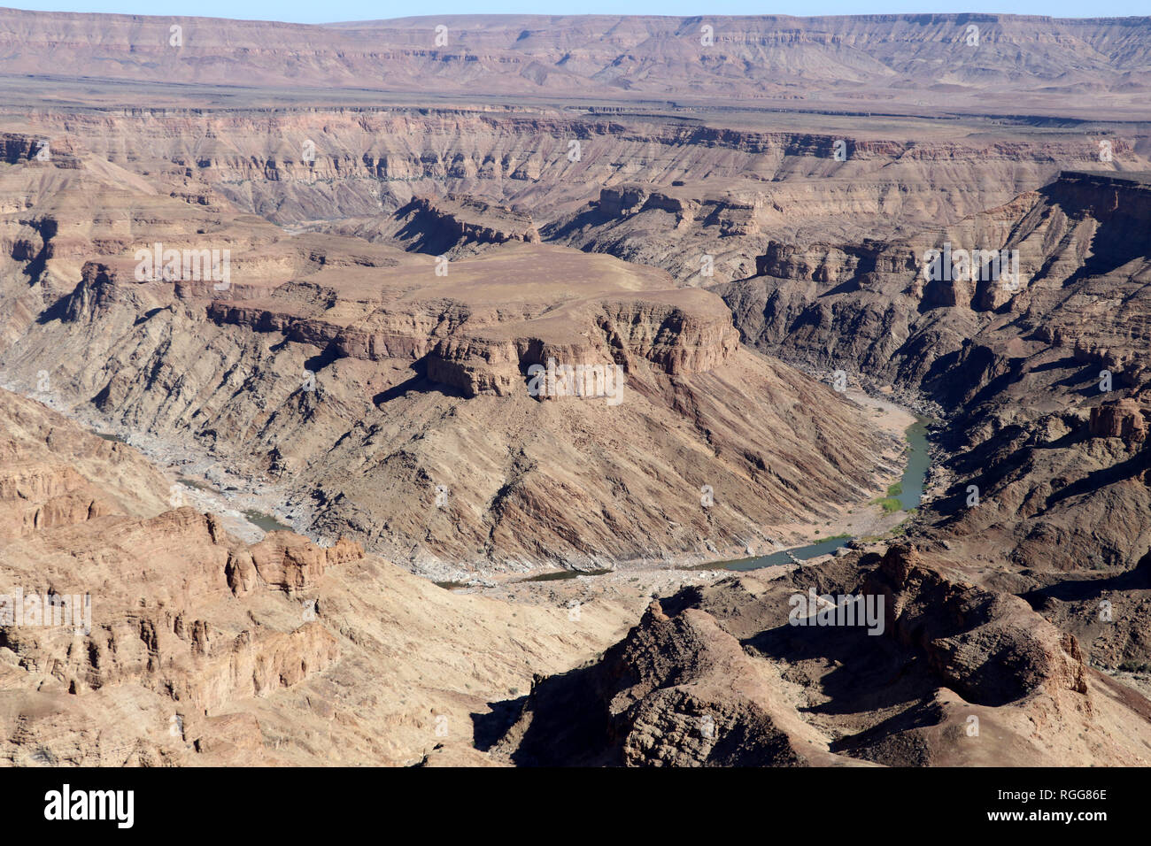 Sensational view of the Fish River Canyon - the second largest canyon in the world - Namibia Africa - Stock Image