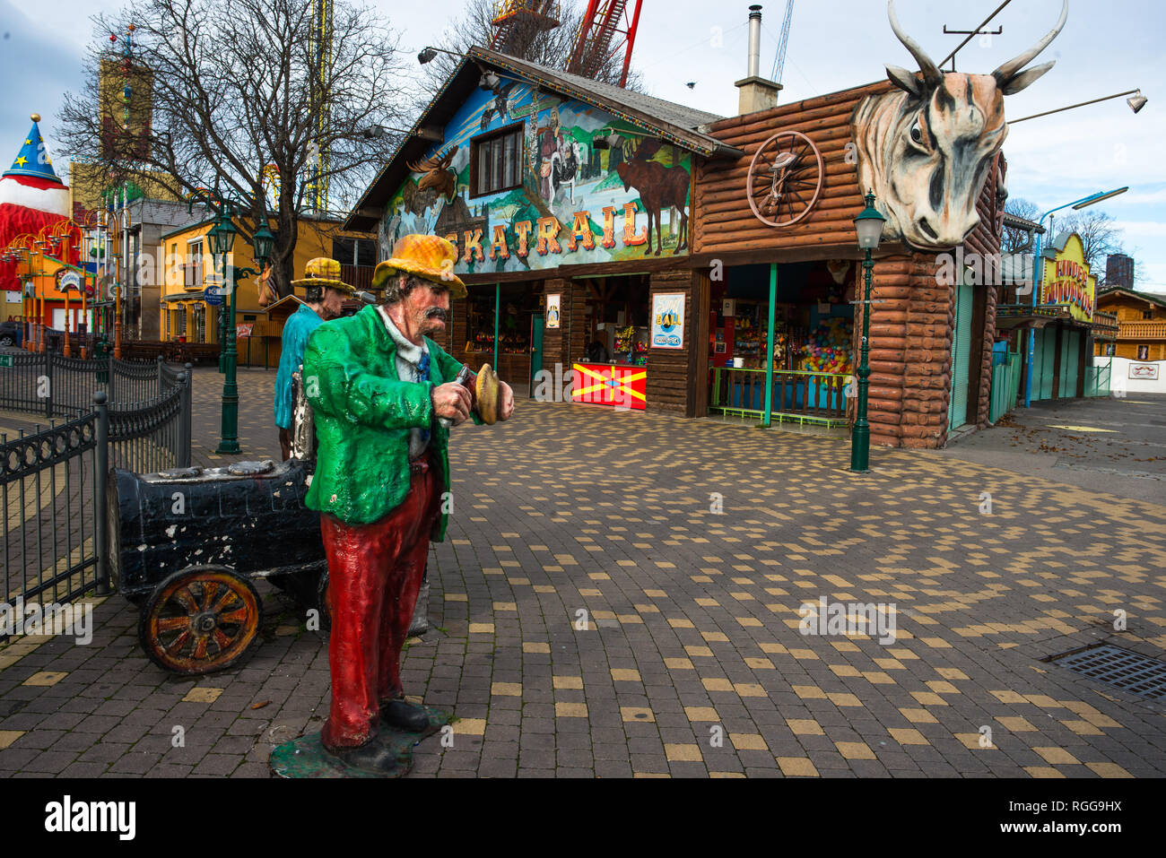 Prater amusements park, Leopoldstadt, Vienna, Austria. - Stock Image