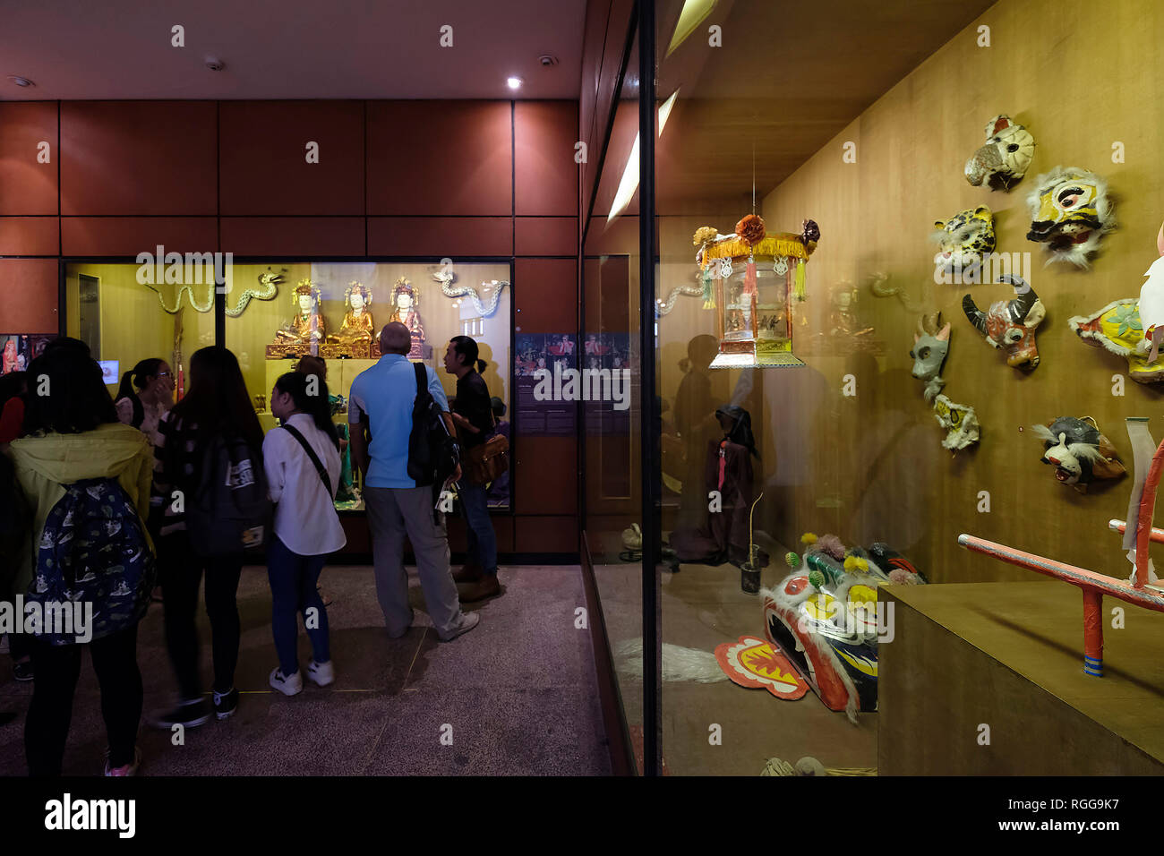 Tourists visiting the Vietnam Museum of Ethnology in Hanoi, Vietnam, Southeast Asia - Stock Image