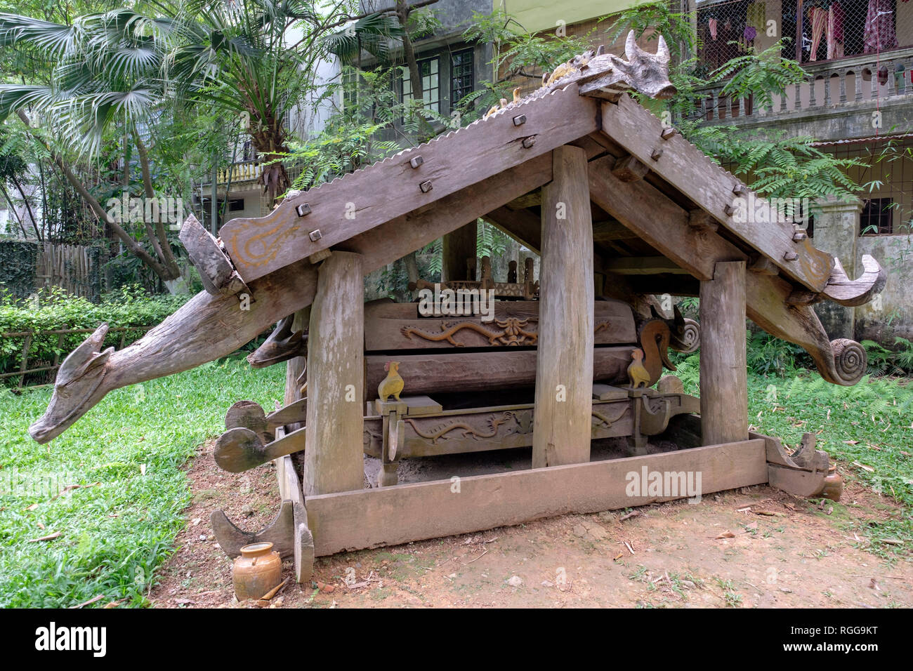 Cotu tomb at the Vietnam Museum of Ethnology, Hanoi, Vietnam, Asia - Stock Image