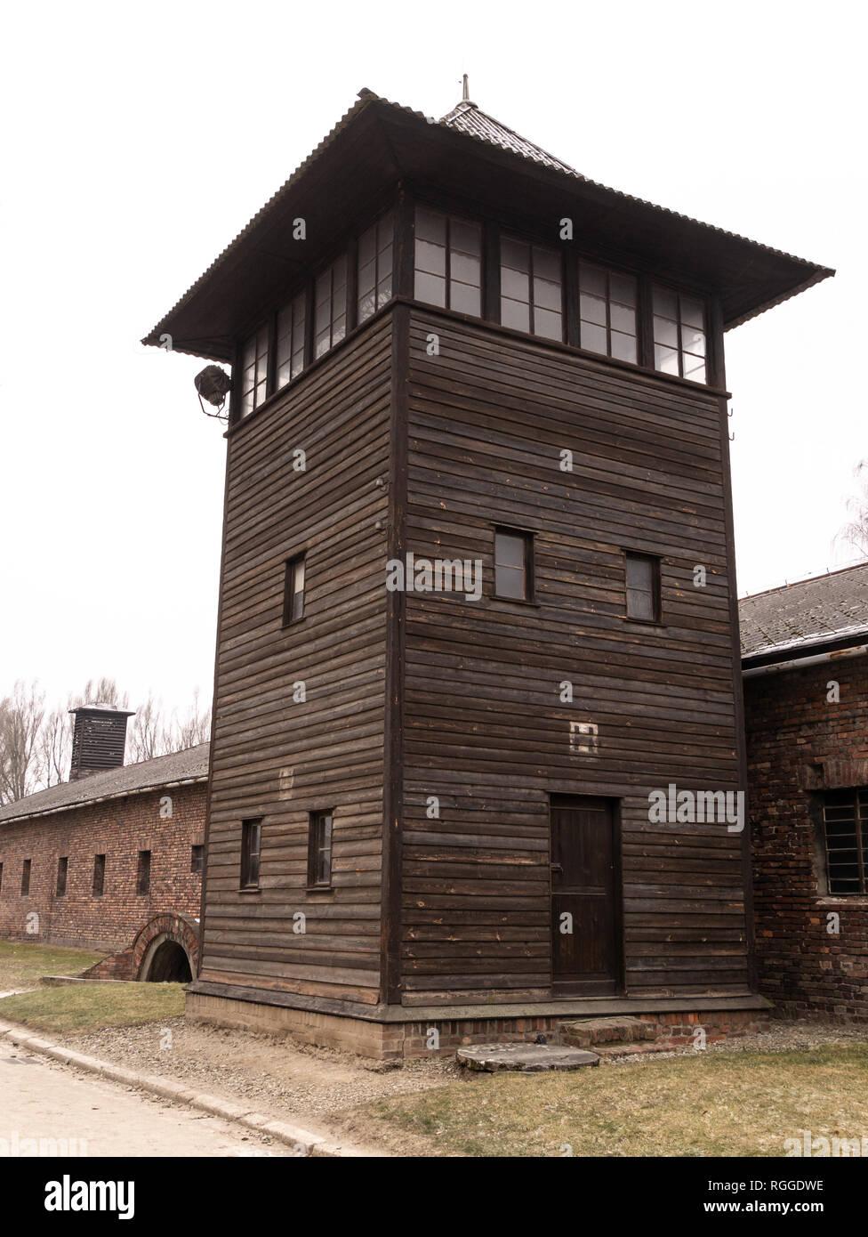 Auschwitz concentration and extermination camp, Oswiecim, Poland - Stock Image
