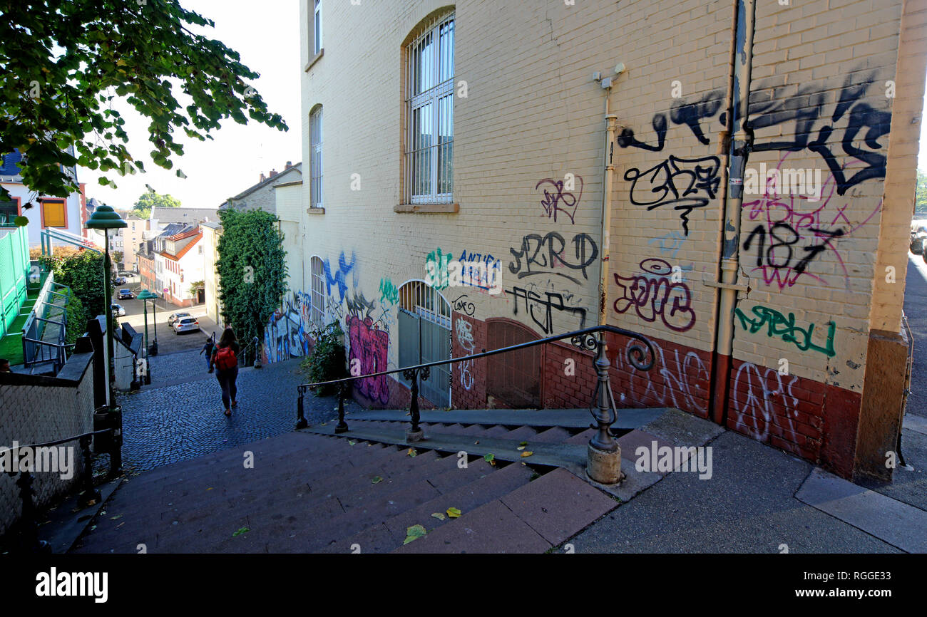 Graffiti, Kleine Weigasse 12, 55116 Mainz, Rhineland-Palatinate, Germany, Europe - Stock Image