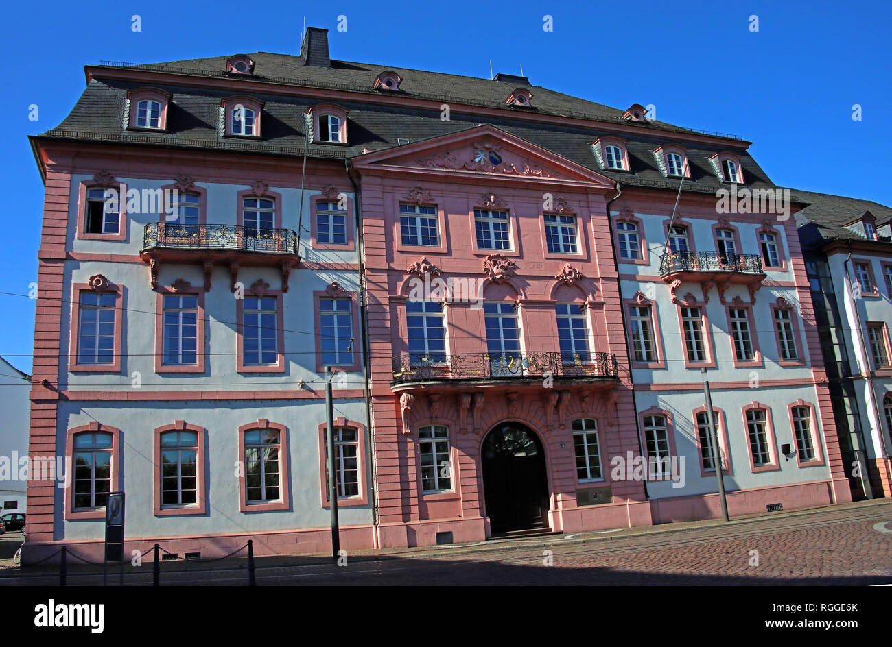 Ministry Of The Interior building, Bassenheimer Hof, Rhineland-Palatinate, Mainz, Germany, Europe - Stock Image