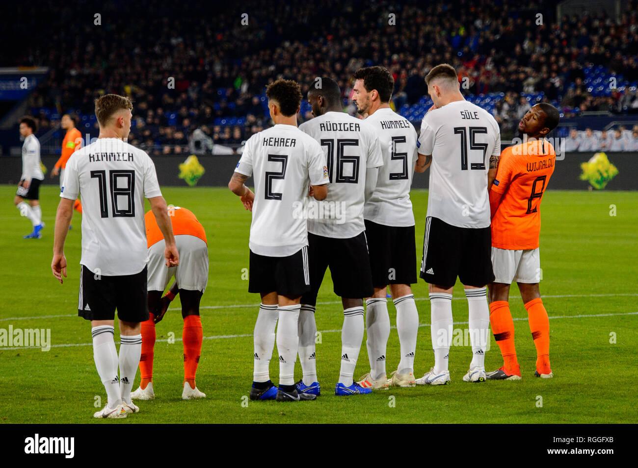 GELSENKIRCHEN - NOV 19, 2018: Georginio Wijnaldum 8. Germany - Netherlands. UEFA Nations League. Schalke 04 stadium. - Stock Image