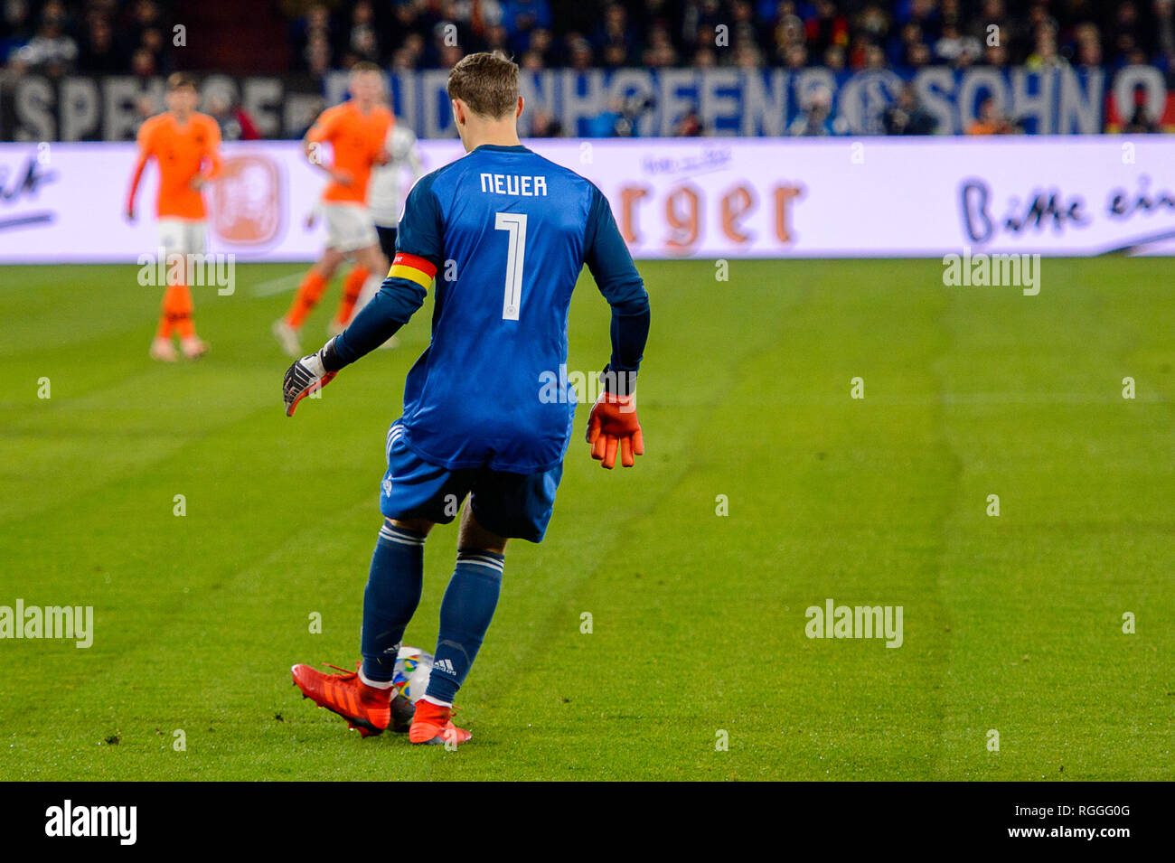 GELSENKIRCHEN - NOV 19, 2018: Manuel Neuer 1. Germany - Netherlands. UEFA Nations League. Schalke 04 stadium. - Stock Image