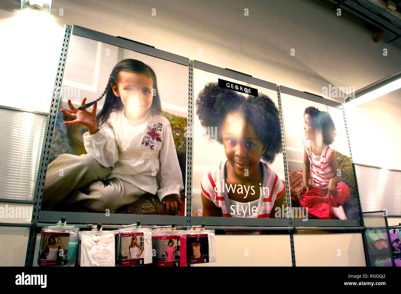 Advertising poster in an ASDA store for George childrens clothing - Stock Image