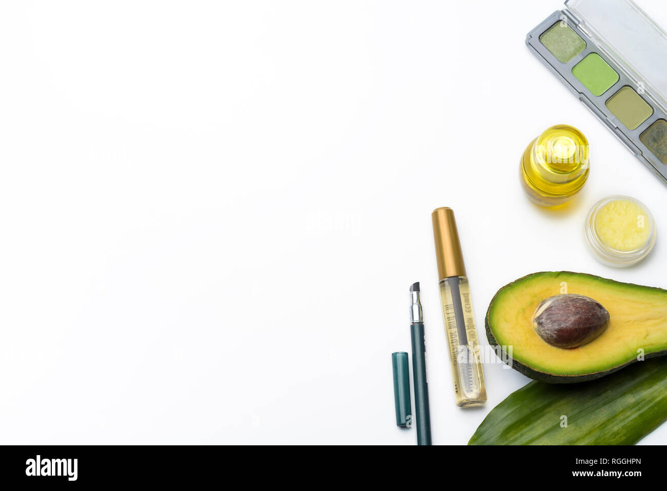 Natural herbal skin care products, top ingredients, avocado