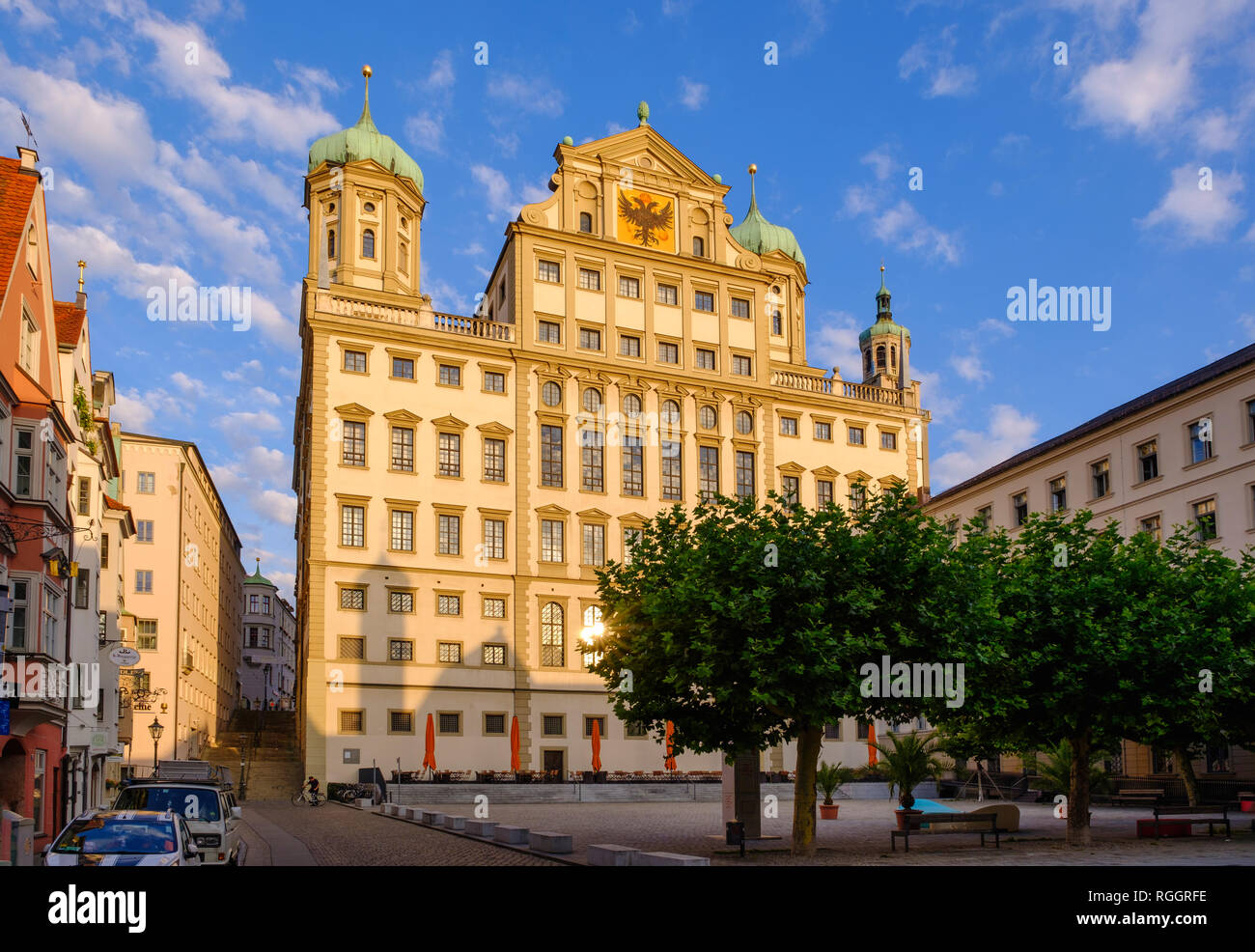 Germany, Bavaria, Augsburg, Townhall at Elias-Holl-Square - Stock Image