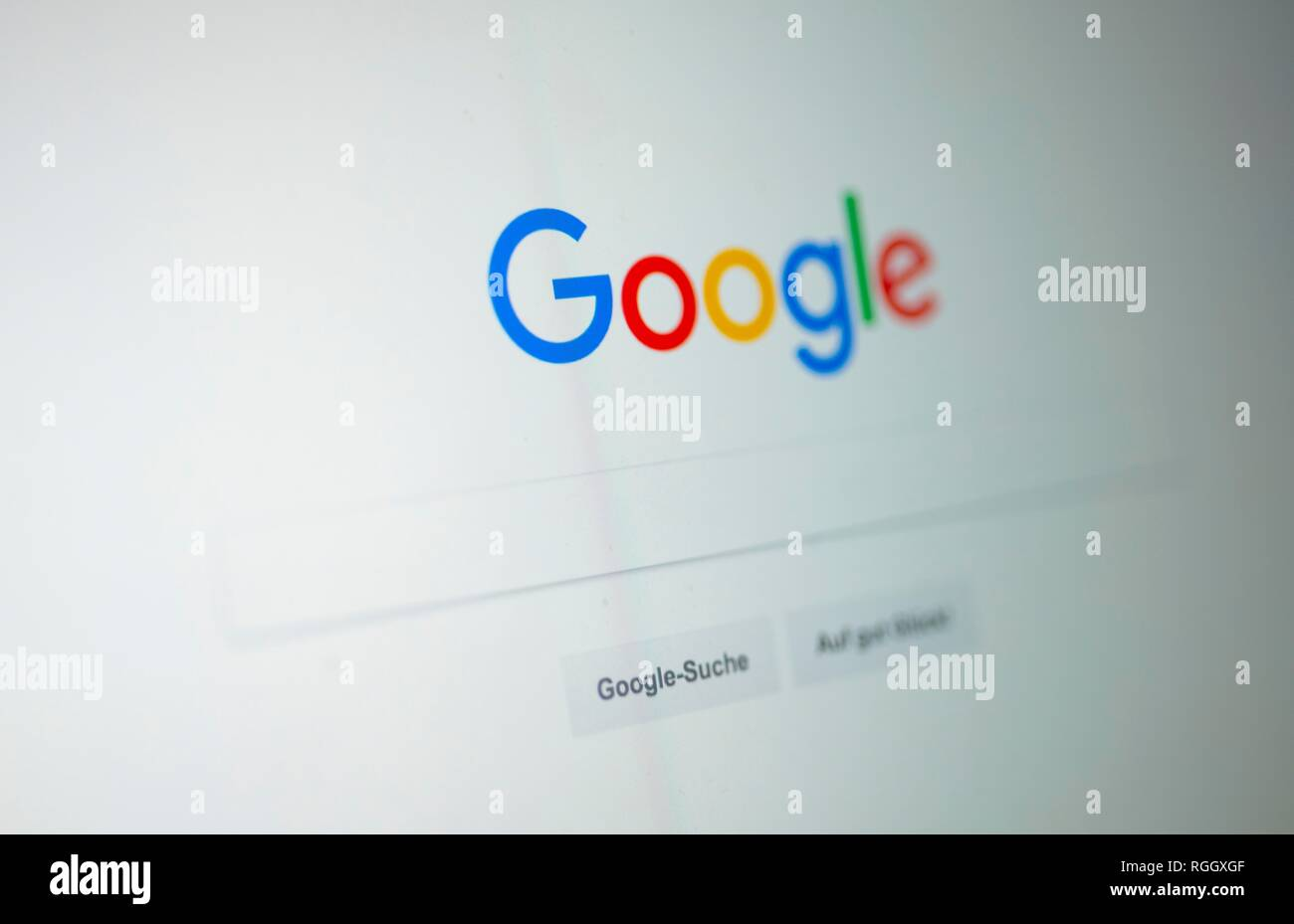 Google, Homepage, Search Engine, Internet, Screenshot, Germany - Stock Image