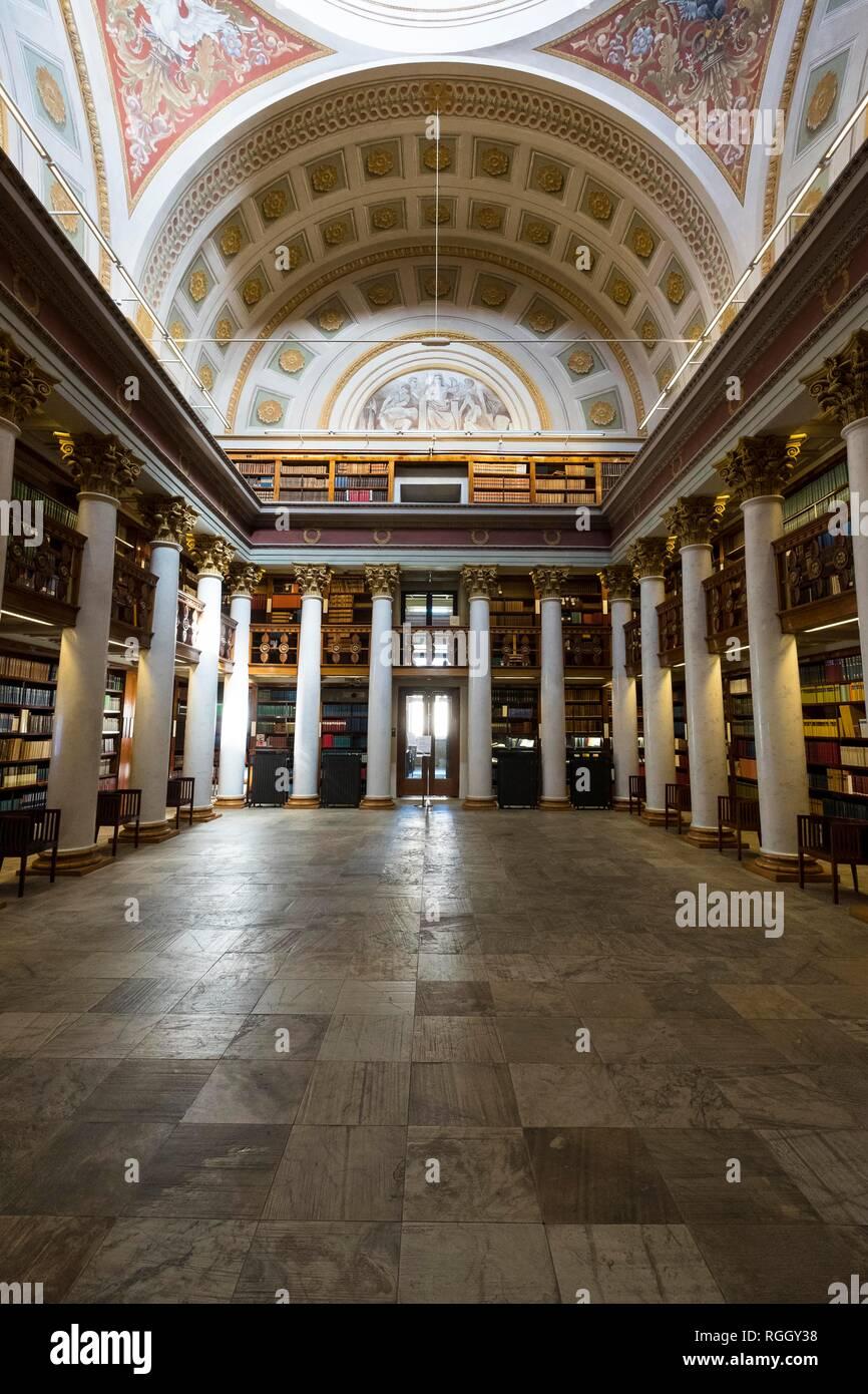 Interior, Finnish National Library, Kansalliskirjasto, Helsinki, Finland Stock Photo